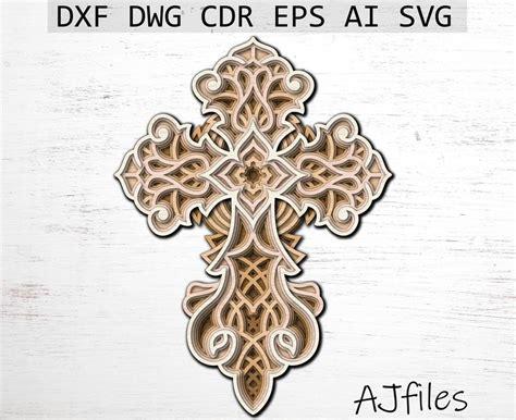 Free 3d layered mandala svg | fb91. Cross Svg Layered cross Mandala File Mandala svg DXF | Etsy