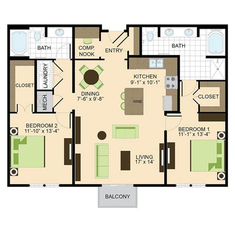 Luxury Apartment Plans by 2 Bedroom Floor Plans Houston Luxury Apartment Living In