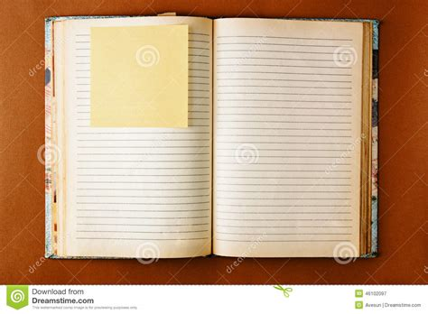 notebook  stained pages design stock image image