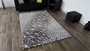 tapis de salon design en acrylique moderne nevio 11 With tapis moderne design