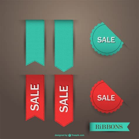 sale ribbon vector vector free download