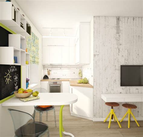 A Super Small Apartment Design With Floor Plan