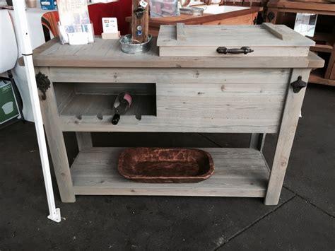 cooler bar cart console table outdoor mini bar