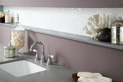 oval glass tile  white  great   backsplash