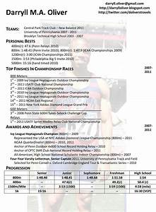 darryll oliver athletic resume With athletic resume template