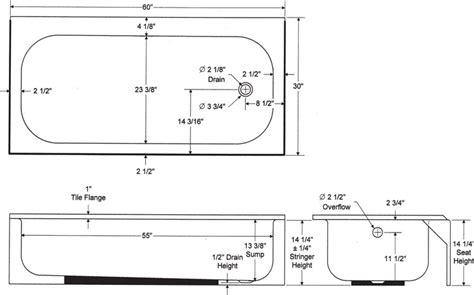 How Wide Is A Standard Tub by Bathtub Average Size Of A Bathtub