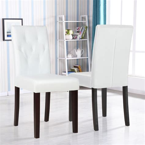 set   ivory white leather dining room chair kitchen