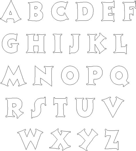 The Alphabet Templates by Alphabet Letter Templates Peerpex