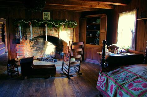 vance birthplace log cabin decorated    christmas