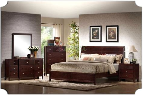 Platform Bedroom Furniture Set With Curved Headboard Beds