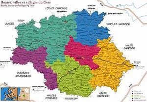 Carte Du Gers Détaillée : carte gers carte du monde ~ Maxctalentgroup.com Avis de Voitures