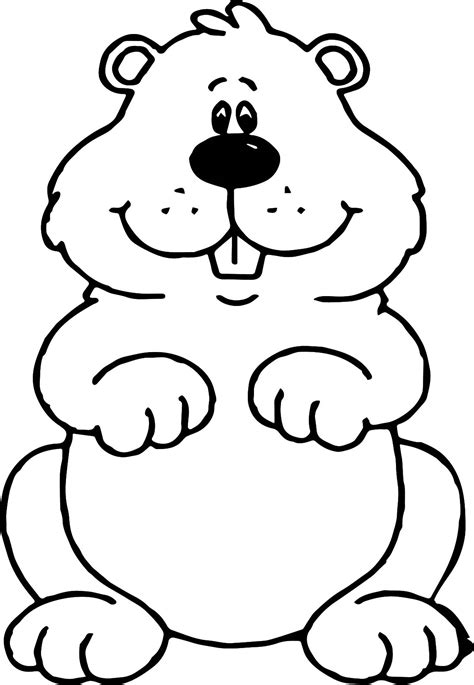 groundhog day coloring pages small groundhog coloring page wecoloringpage