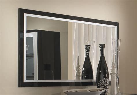 canapé but promo miroir roma laqué bicolore noir blanc l 140 x h 85