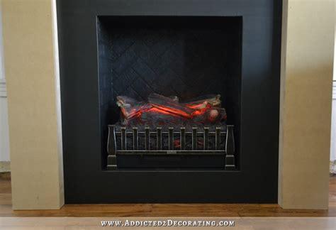 diy fireplace part   finished brick fire box