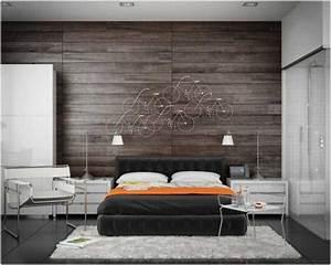 deco chambre mur bois ralisscom With mur de chambre en bois