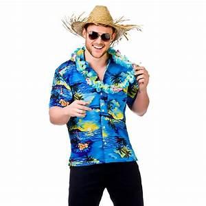 MENS HAWAIIAN SHIRT STAG RETRO BEACH LUAU TROPICAL ALOHA FANCY DRESS COSTUME TOP