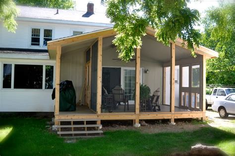 screen porch covered deck extension modern patio