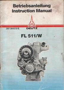 Deutz Engine Fl 511 W Operators Manual