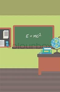 Background of classroom vector flat design illustration ...