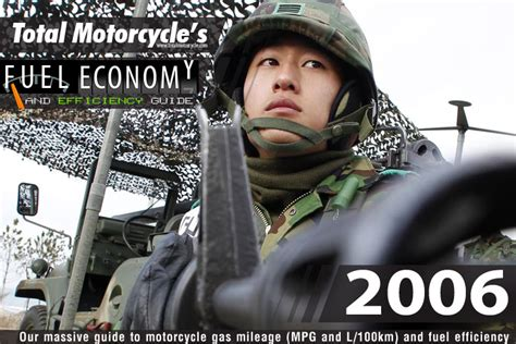 2006 Motorcycle Model Fuel Economy Guide In Mpg And L