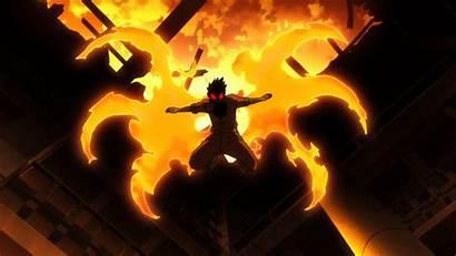 Force Fire Shinra Devil Anime Episode Smiling