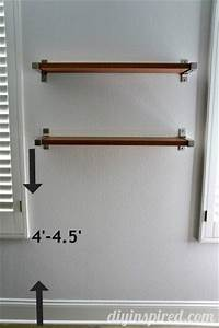 the right height to hang shelves diy inspired With the advantages and ideas of hanging wall shelves