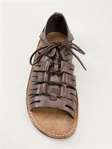 Dolce & gabbana Gladiator Sandal in Brown for Men | Lyst