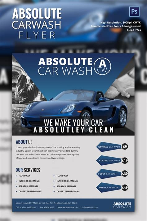 car detailing price list template car wash flyer 48 free psd eps indesign format free premium templates