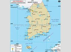 South korea Latitude and Longitude Map Korean's Seoul