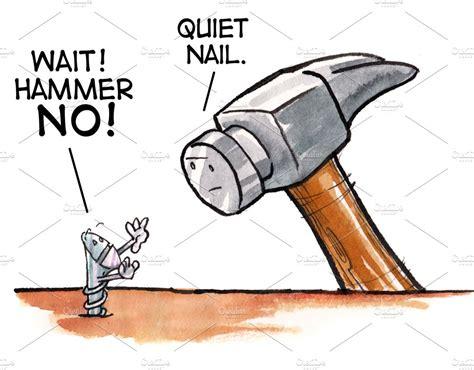 hammer illustrations creative market