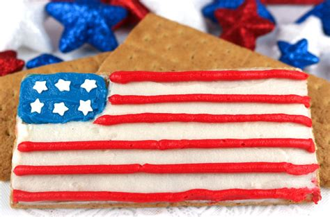 american flag frosted graham crackers  sisters