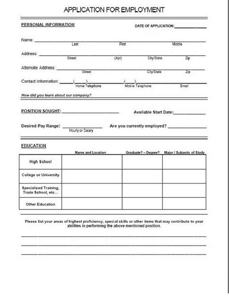 applications cuisine application form blank application form for a