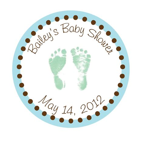 Personalized Stickers For Baby Shower - personalized stickers baby baby shower by simplysweetness