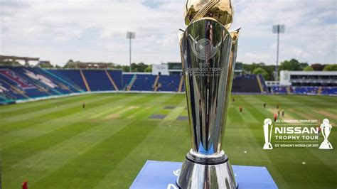 icc champions trophy icc womens world cup trophy cardiff