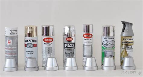 silver spray paint diy home projects