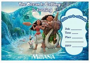 Free Printable Moana Party Invitation Free Printables Com