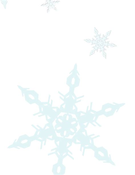 Transparent Background Snowflake Border by Snowflake Clipart Transparent Border Pencil And In Color