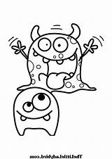 Coloring Pages Monster Printable Monsters Getcolorings sketch template