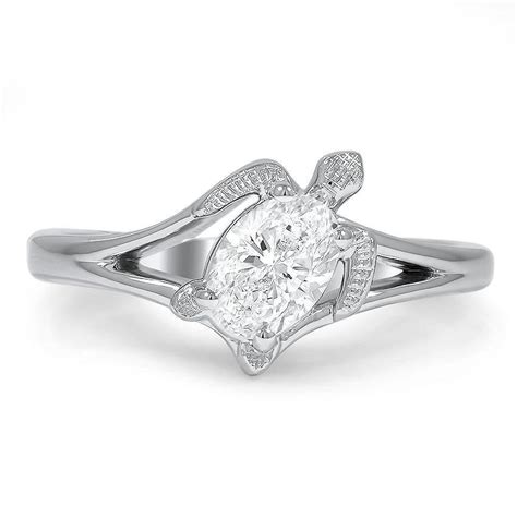 Custom Turtle Inspired Diamond Ring