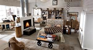 arredamento country vintage industrial loft shabby chic dialma brown open space