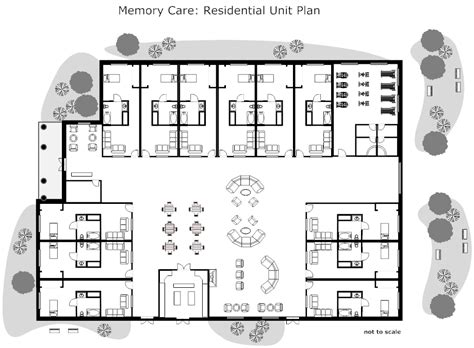 home layout design residential nursing home unit plan