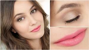 Natural Drugstore Makeup with Focus on Hair Colour - YouTube
