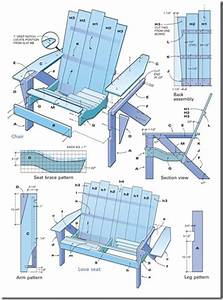 free adirondack outdoor furniture plans » woodworktips