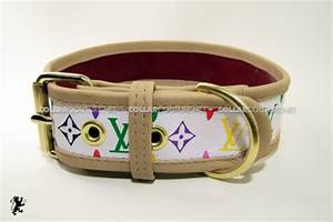 collar couture gucci and louis vuitton print dog collars