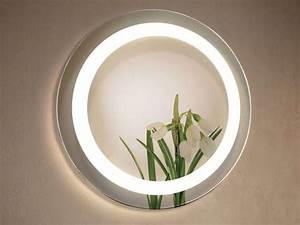 Miroir Rond Led : miroir salle de bains led rond miami ~ Teatrodelosmanantiales.com Idées de Décoration