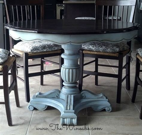 chalk paint table and chairs refurbished craisglist kitchen table with annie sloan