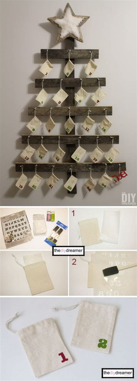 Wooden Advent Calendar To Decorate by 25 Diy Rustic Christmas Decoration Ideas Amp Tutorials 2017