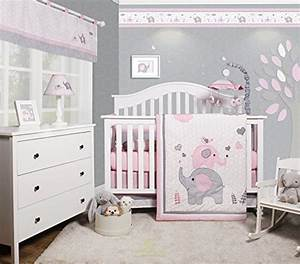 GEENNY OptimaBaby Pink Grey Elephant 6 Piece Baby Girl