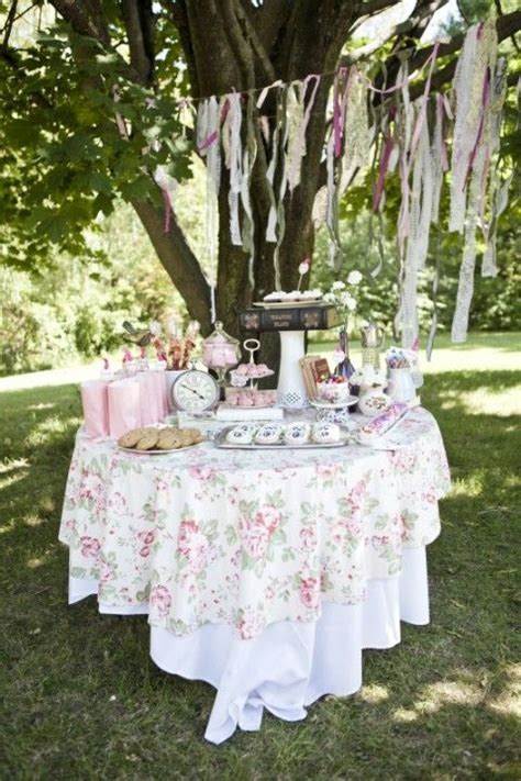 36 Awesome Outdoor Bridal Shower Ideas Tea party bridal