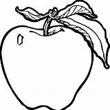 Coloring Fruit Pages Apple Students Coloringtop Via sketch template